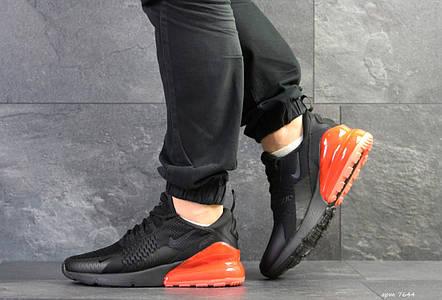 Мужские кроссовки Nike Air Max 270,сетка,черные с оранжевым, фото 2