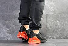 Мужские кроссовки Nike Air Max 270,сетка,черные с оранжевым, фото 3