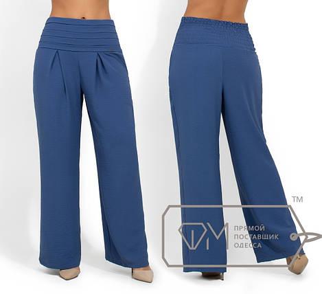 Летние брюки батал, индиго, фото 2