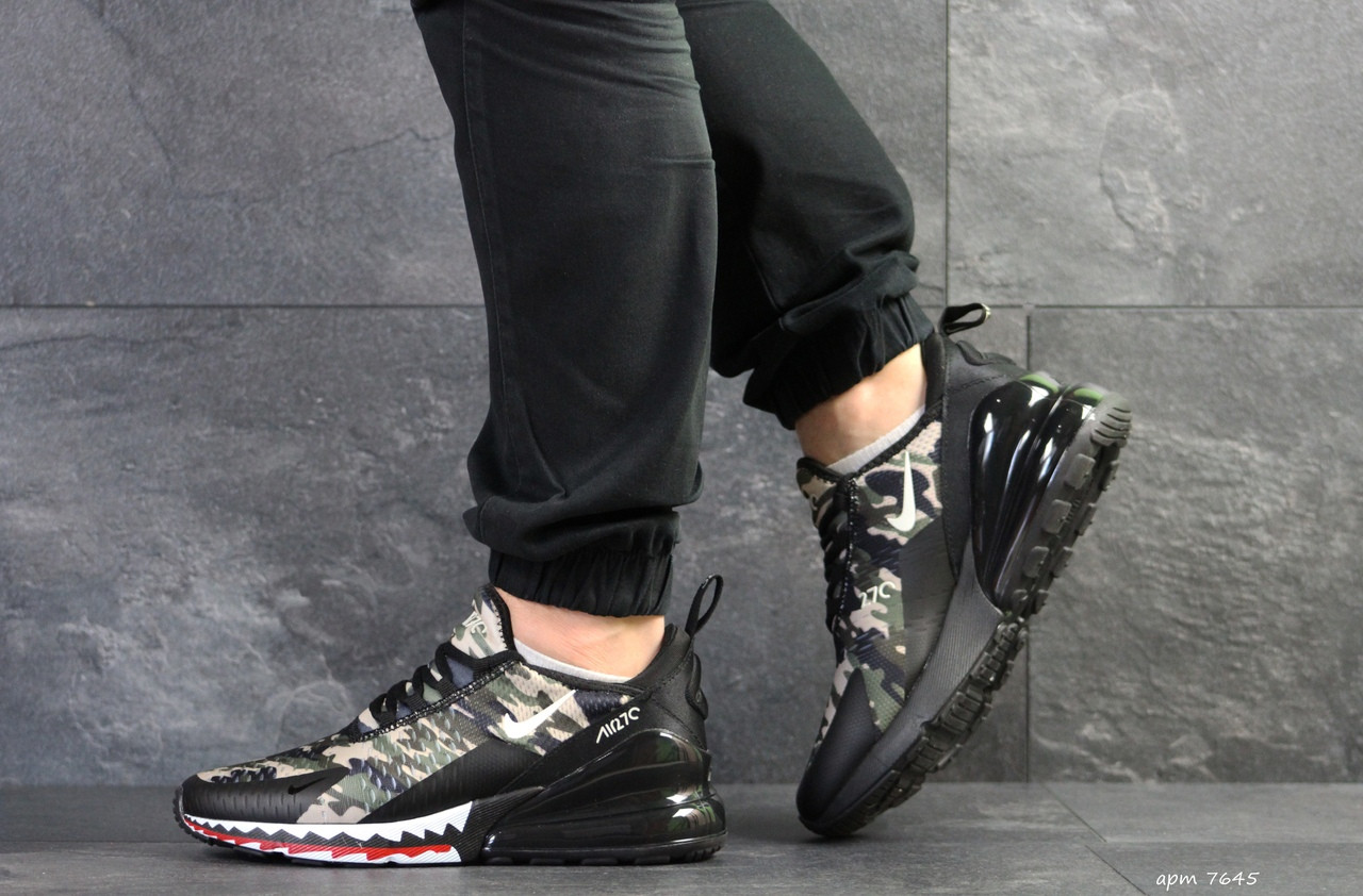 Мужские кроссовки Nike Air Max 270,сетка,милитари 44р
