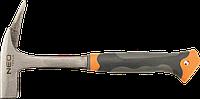 Молоток кровельщика, 600 г Neo 25-002, рукоятка цельнометаллическая