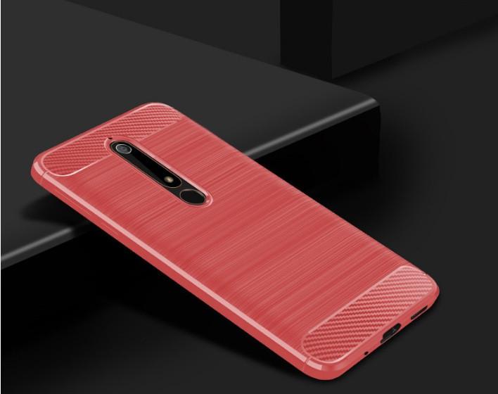 Чехол Carbon для Nokia 6 2018 Красный
