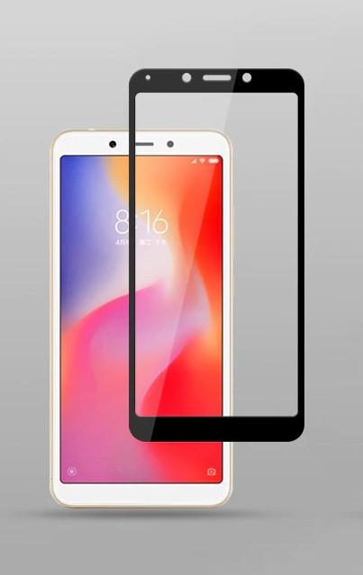 Защитное стекло для Xiaomi Redmi 6 Full Glue черное