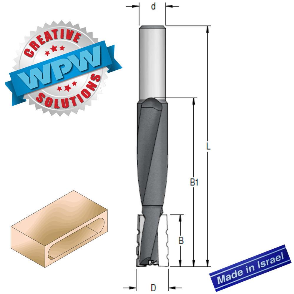 Фреза пазовая для врезки замков D16 B25/80 d12 L130 DT16002M