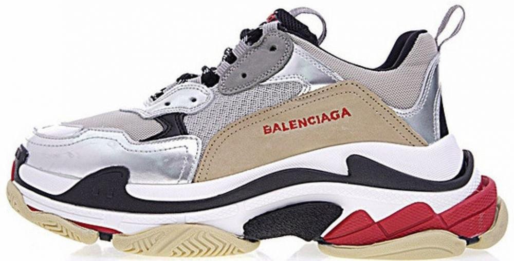 """Женские кроссовки Balenciaga Triple S """"Silver"""" в стиле Баленсиага"""