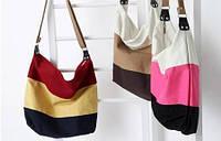 Стильная сумка мешок в полоску