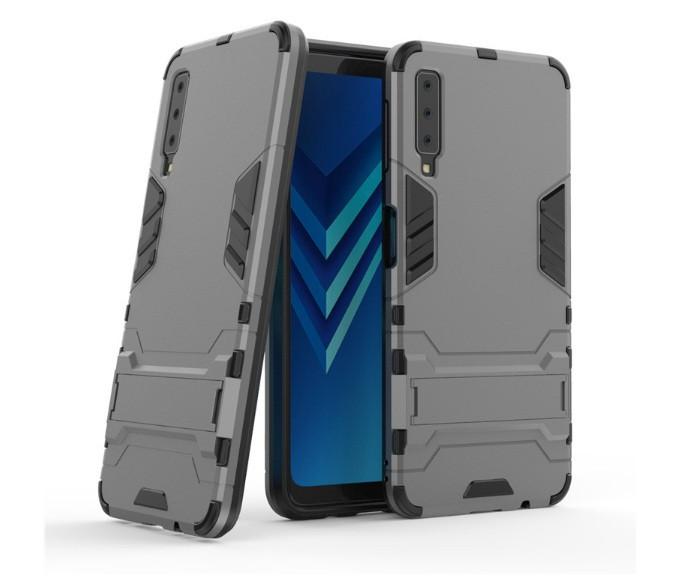 Чехол противоударный Transformer для Samsung А7 2018 / А750 Серый