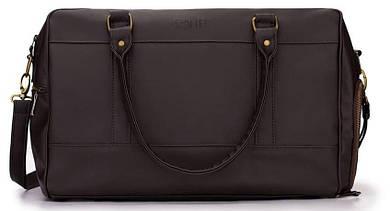 Дорожная сумка из экокожи Solier S18 Dark Brown, 44л