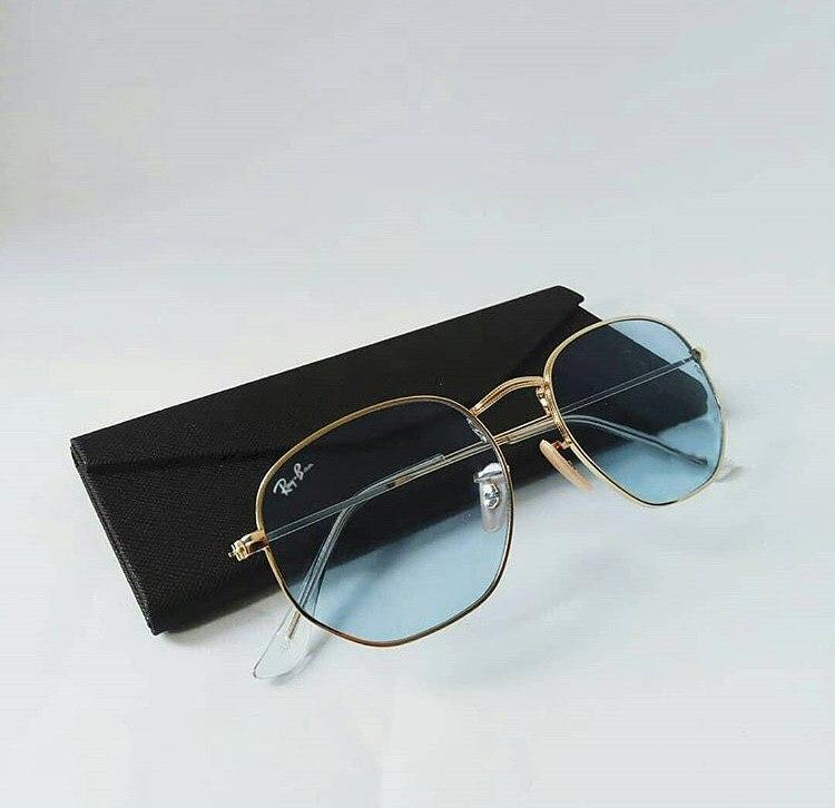 Женские солнцезащитные очки Ray Ban голубые