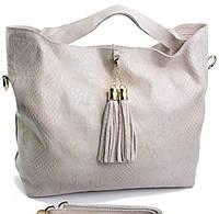 bfc6af6d8743 Прекрасная женская сумка светло - бежевого цвета из натуральной кожи