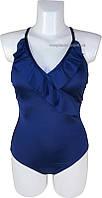 Слитный женский купальник с чашками из мягкого поролона Atlantic beach BB97S синий