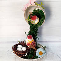 Парящая чашка с пасхальным декором Оригинальные подарки и сувениры на пасху Ручная работа