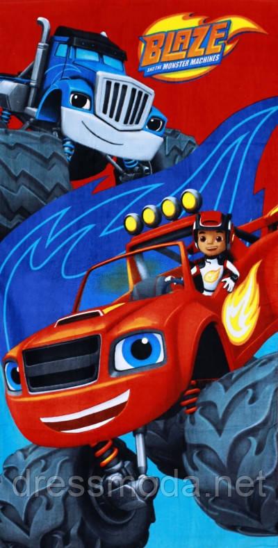 Полотенце пляжное Blaze  для мальчиков от Disney 70/140 р.