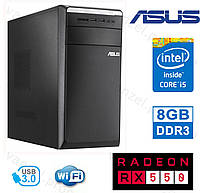 ASUS M11AD - Intel Core i5-4440S/ 8GB DDR3/ Radeon RX550 4GB DDR5/ 500GB HDD Системный блок, Игровой ПК