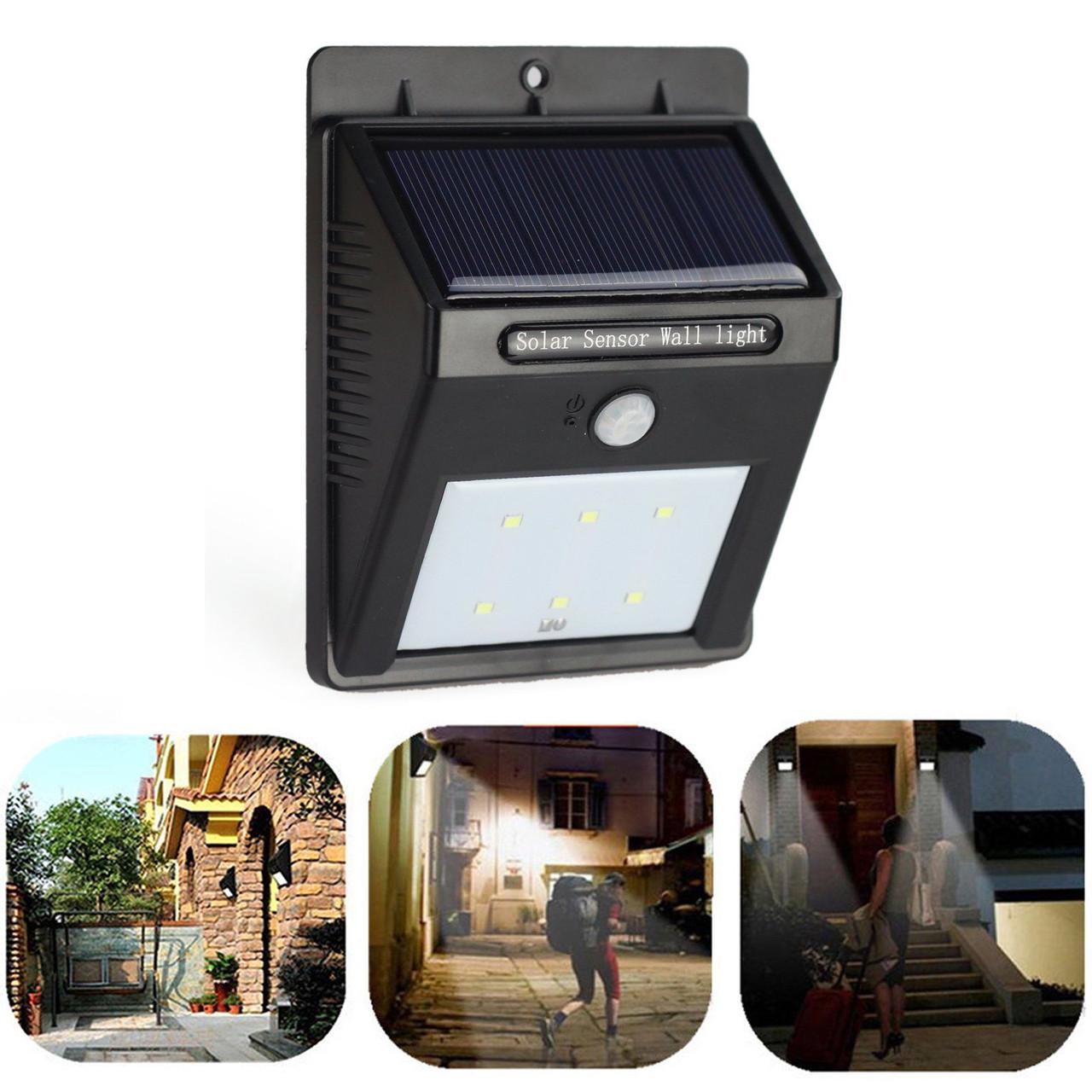 Светильник на солнечной батарее с датчиком света