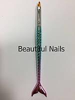 """Кисть для дизайна ногтей """"Русалка"""" №2"""