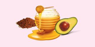 Маска с авокадо, медом и какао