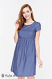 Платье для беременных и кормящих CELENA, джинсово-синее в горох, фото 6