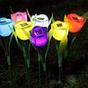 Светодиодный светильник цветок, фонарь для подсветки ландшафта, лужайки, газона, сада на солнечной батареи