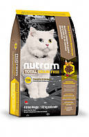 Nutram CAT GRAIN-FREE Salmon & Trout 0.34 кг - беззерновой холистик корм для кошек (лосось/форель)