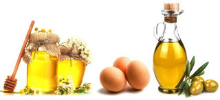 Макска с медом, яйцом и оливковым маслом