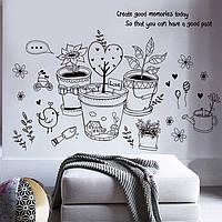 Интерьерная наклейка на стену, фото 1