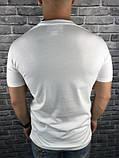 Гарна Чоловіча Футболка Gucci біла 100% Бавовна Туреччина Трендова Стильна Гуччі копія, фото 2