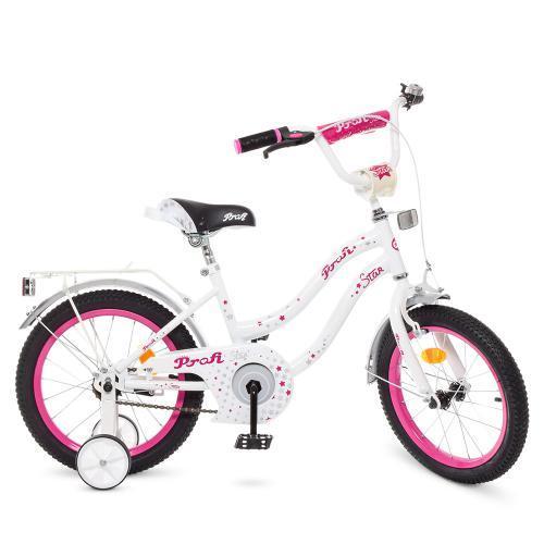 Велосипед дитячий PROF1 18Д. Y1894 Star біло-малиновий