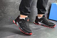 Кроссовки мужские черные с красным Adidas Marathon, весенние мужские кроссовки ( Реплика)