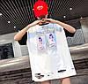 Прямая женская футболка удлиненная (в расцветках), фото 4