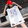Прямая женская футболка удлиненная (в расцветках), фото 7
