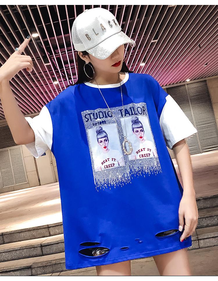 Прямая женская футболка удлиненная (в расцветках)