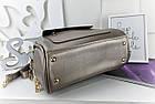 Женская сумка светло-бронзового цвета с фурнитурой золотистого цвета, из искусственной кожи, фото 2
