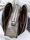 Женская сумка светло-бронзового цвета с фурнитурой золотистого цвета, из искусственной кожи, фото 7