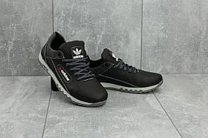 Кроссовки CrosSAV 39 (Adidas) (весна/осень, подростковые, натуральная кожа, черно-серый)