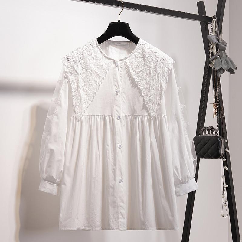Свободная рубашка разлетайка 44-46