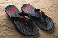 Летние резиновые шлепанцы мужские черные 11073 - 02049 Rider Strike Plus лето