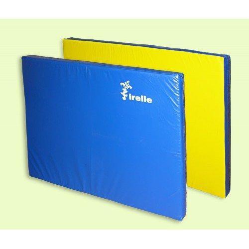 Мат гимнастический Irelle 100х200х8см желто-синий