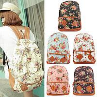 Стильный рюкзак в цветочек