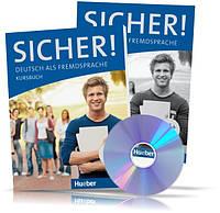 Sicher B1 + , Kursbuch + Arbeitsbuch + CD / Учебник + Тетрадь (комплект с диском) немецкого языка