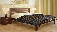 Кровать двуспальная Джулия 160*200(190) (массив Ольха)