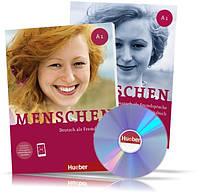 Menschen A1, Kursbuch + Arbeitsbuch / Учебник + Тетрадь (комплект с дисками) немецкого языка