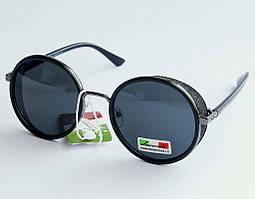 Женские солнцезащитные очки круглые с шорами