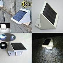 Светодиодный светильник, фонарь, бра на солнечной батареи 6  LED, фото 3