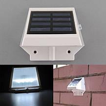 Светодиодный светильник, фонарь, бра на солнечной батареи 6  LED, фото 2