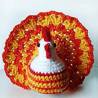 Пасхальная курочка на яйцо для украшения стола Ручная работа, фото 1