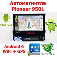Автомагнитола Pioneer 9501 Android, GPS ВЫЕЗДНОЙ ЭКРАН 7'', WiFi, Bluetooth