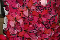 Стена из бабочек бумажных