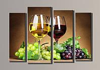 "Картина модульная на холсте ""Вино"" HAF-024"