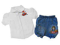 Блузка+шорты летние для девочки Girl